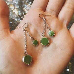 Jewelry - VINTAGE Green Earrings